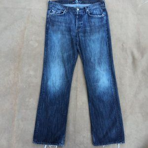 7 For All  Mankind Relaxed Fit Button Fly Fade Wash Jeans
